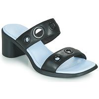 Schoenen Dames Leren slippers Camper MEDA Zwart