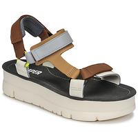 Schoenen Dames Sandalen / Open schoenen Camper ORUGA UP Brown / Grijs