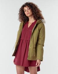 Textiel Dames Mantel jassen Deeluxe LINA Kaki