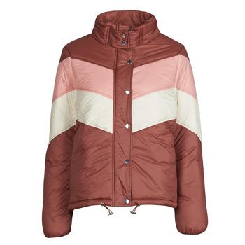 Textiel Dames Dons gevoerde jassen Deeluxe CLAUDINE Rood / Roze
