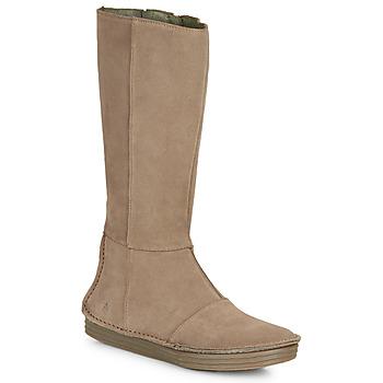 Schoenen Dames Hoge laarzen El Naturalista LUX Brown