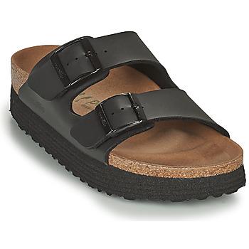 Schoenen Dames Leren slippers Papillio ARIZONA GROOVED Zwart
