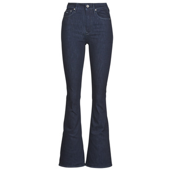 Textiel Dames Bootcut jeans G-Star Raw 3301 High Flare Wmn Rinsed
