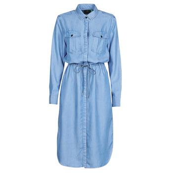 Textiel Dames Lange jurken G-Star Raw Rovic maxi shirt dress ls Lt / Aged