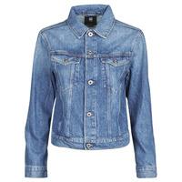 Textiel Dames Spijker jassen G-Star Raw 3301 Straight Dnm Jkt Wmn Faded