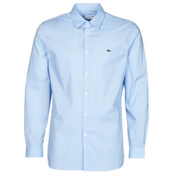 Textiel Heren Overhemden lange mouwen Lacoste PITTA Blauw