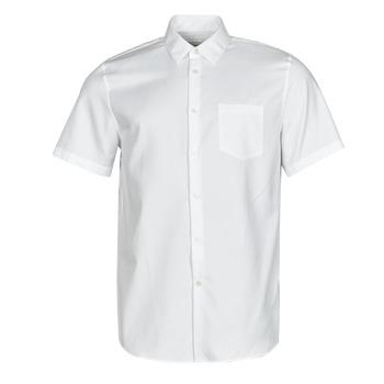 Textiel Heren Overhemden korte mouwen Lacoste FOLLA Wit
