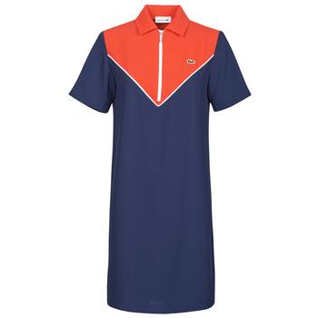 Textiel Dames Korte jurken Lacoste FRITTI Rood / Blauw