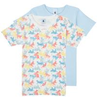 Textiel Jongens T-shirts korte mouwen Petit Bateau MANUR Multicolour