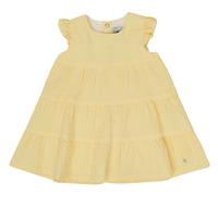 Textiel Meisjes Korte jurken Petit Bateau MERINGUE Geel