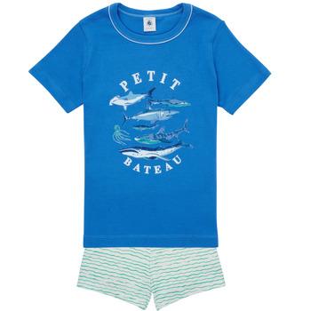 Textiel Jongens Pyjama's / nachthemden Petit Bateau MAYONNAISE Multicolour