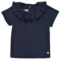 Textiel Meisjes T-shirts korte mouwen Petit Bateau MELISSA Marine