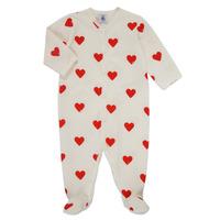 Textiel Meisjes Pyjama's / nachthemden Petit Bateau MESCOEURS Wit