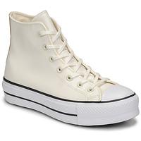 Schoenen Dames Hoge sneakers Converse CHUCK TAYLOR ALL STAR LIFT ANODIZED METALS HI Wit / Beige