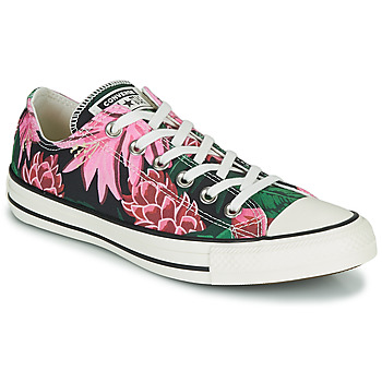 Schoenen Dames Lage sneakers Converse CHUCK TAYLOR ALL STAR JUNGLE SCENE OX Roze / Groen