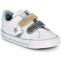 Schoenen Meisjes Lage sneakers Converse STAR PLAYER 2V METALLIC LEATHER OX Wit