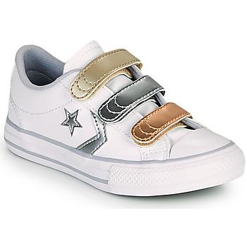 Schoenen Meisjes Lage sneakers Converse STAR PLAYER 3V METALLIC LEATHER OX Wit