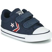 Schoenen Jongens Lage sneakers Converse STAR PLAYER 2V TEXTILE DISTORT OX Blauw / Rood