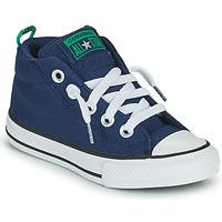Schoenen Kinderen Hoge sneakers Converse CHUCK TAYLOR ALL STAR STREET CANVAS COLOR MID Blauw