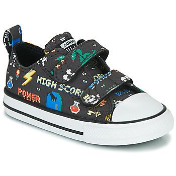 Schoenen Jongens Lage sneakers Converse CHUCK TAYLOR ALL STAR 2V BOYS GAMER OX Zwart / Multikleuren