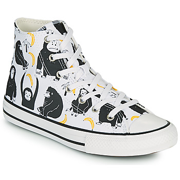 Schoenen Kinderen Hoge sneakers Converse CHUCK TAYLOR ALL STAR GOING BANANAS HI Wit / Multicolour