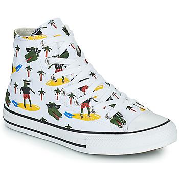 Schoenen Jongens Hoge sneakers Converse CHUCK TAYLOR ALL STAR CROCO SURF HI Wit / Groen