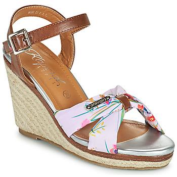 Schoenen Dames Sandalen / Open schoenen Kaporal MAKITA Brown / Wit