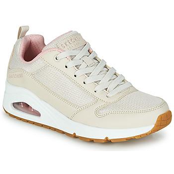 Schoenen Dames Lage sneakers Skechers UNO INSIDE MATTERS Beige / Roze