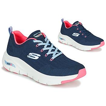 Schoenen Dames Lage sneakers Skechers ARCH FIT Marine / Roze