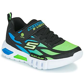 Schoenen Jongens Lage sneakers Skechers FLEX-GLOW Zwart / Blauw / Groen