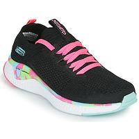 Schoenen Meisjes Lage sneakers Skechers SOLAR FUSE Zwart / Roze