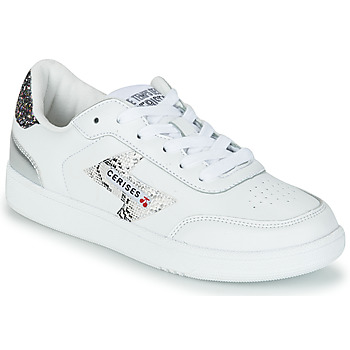 Schoenen Dames Lage sneakers Le Temps des Cerises FLASH Wit / Zilver