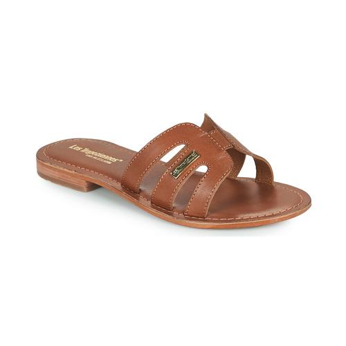 Schoenen Dames Leren slippers Les Tropéziennes par M Belarbi DAMIA Brown