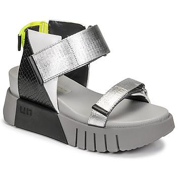 Schoenen Dames Sandalen / Open schoenen United nude DELTA RUN Zwart / Zilver