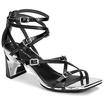 Schoenen Dames Sandalen / Open schoenen United nude MOLTEN STRAPPY MID Zwart