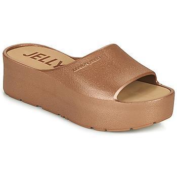 Schoenen Dames Leren slippers Lemon Jelly SUNNY Goud