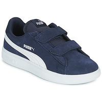 Schoenen Kinderen Lage sneakers Puma SMASH PS Blauw