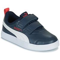 Schoenen Jongens Lage sneakers Puma COURTFLEX PS Zwart