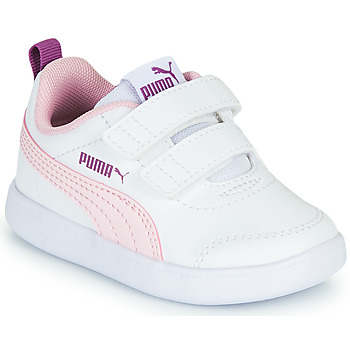 Schoenen Meisjes Lage sneakers Puma COURTFLEX INF Wit / Roze