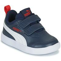 Schoenen Jongens Lage sneakers Puma COURTFLEX INF Zwart