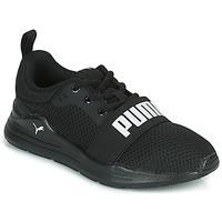 Schoenen Jongens Lage sneakers Puma WIRED PS Zwart