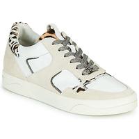 Schoenen Dames Lage sneakers Mam'Zelle ARTIX Wit / Leopard