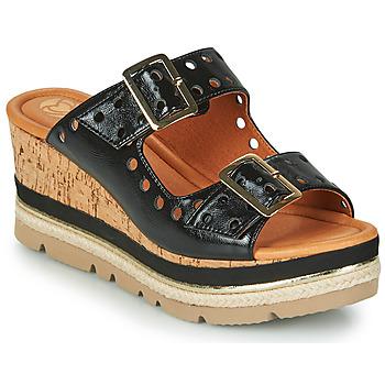 Schoenen Dames Leren slippers Mam'Zelle PULSE Zwart