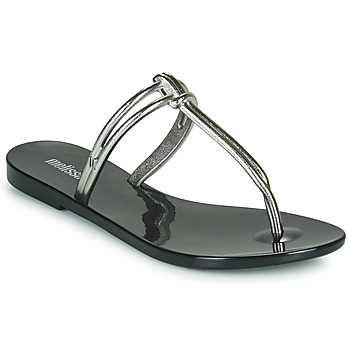 Schoenen Dames Leren slippers Melissa ASTRAL CHROME AD Zwart