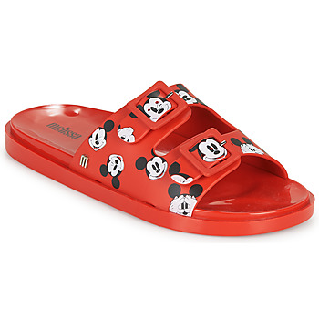 Schoenen Dames Leren slippers Melissa WIDE - MICKEY & FRIENDS AD Rood