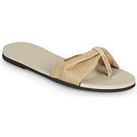 Schoenen Dames Slippers Havaianas YOU ST TROPEZ SHINE Beige