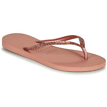Schoenen Dames Slippers Havaianas SLIM GLITTER II Roze
