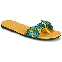 Schoenen Dames Slippers Havaianas YOU SAINT TROPEZ Geel / Goud