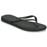 Schoenen Dames Slippers Havaianas SLIM SPARKLE II Zwart