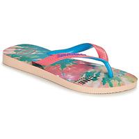Schoenen Dames Slippers Havaianas TOP FASHION Roze